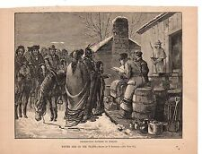 1882 Harpers Weekly Print Native American - Distributing supplies to Indians