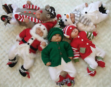 KNITTING PATTERN TO MAKE 5 'CHRISTMAS BABIES  0/3 3/6 & 6/12 MTHS BABY / REBORN