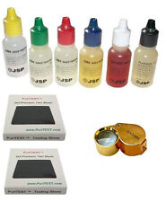 9 PC. GOLD SILVER PLATINUM TESTING KIT ACID TEST JEWELRY-LOT-LOUPE