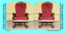 Lincoln Chair Assassination Civil War SV Stereoview Stereocard 3D 02964