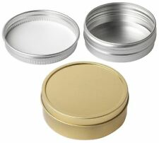 Round Tin with Lid Tinder Storage Survival Camping Metal Containers