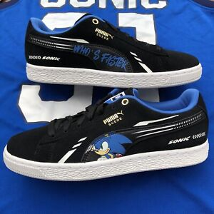 NEW PUMA x Sonic the Hedgehog Boys Shoes Size 7 AND Sonic Jersey Men's Small