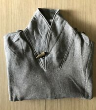 Orvis Mens Grey Donegal Shawl Sweatshirt Jumper Sweater XXL