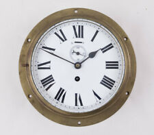 Large English porcelain dial ship's clock @ 1920s Coventy Astral Working