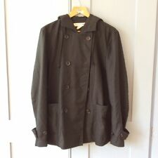 Comme des Garcons black hooded jacket - polyester and wool