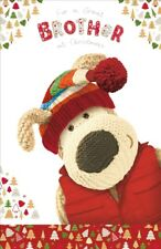 Boofle Great Brother Christmas Greeting Card Foiled Xmas Cards