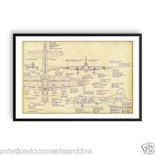 Boeing B-17 Flying Fortress Drawing Art Print Poster- 24x36 (60x90)