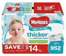 Huggies One & Done Baby Wipes 952 Ct Phenoxyethanol Free and MIT Free - New