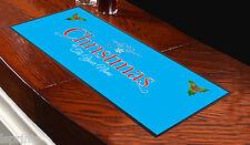 Runner blu da tavolo personalizzato Christmas, da bar, ideale per ogni occasione