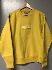 FW18 Supreme Box Logo Crewneck Hoodie Pullover Mustard M Bogo
