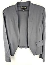 St. John Couture Blazer 14 Studded Cardigan Slate Gray Jacket Suit Career Casual