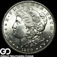 1900-S Morgan Silver Dollar Silver Coin, Very Nice Solid Gem BU++ Better Date!