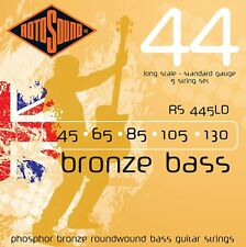 ROTOSOUND RS445LD BRONZE ROUNDWOUND 5 STRING ACOUSTIC BASS GUITAR STRINGS 1 PACK