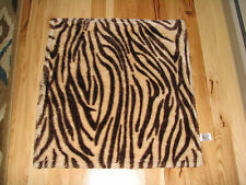 BEANSPROUT BEAN SPROUT BABY BLANKET FURRY TIGER STRIPE ZEBRA TAN BROWN BEIGE