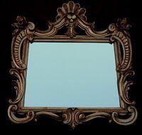 Specchio Muro Oggetto D'antiquariato Rettangolare Oro Specchio Bagno Specchio