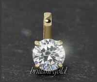 Diamant Solitär Anhänger mit 0,70 ct Brillant in River E & Si2; 585 Gold, NEU
