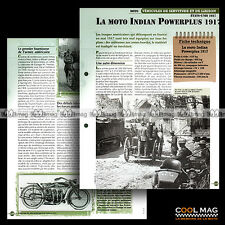 #vm037.09 ★ INDIAN 1000 POWERPLUS USA MOTO 1917 WW I ★ Fiche Véhicule Militaire