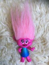 Trolls Movie Figure Doll Toy Blind Bag? Bright Pink Hair Blue Dress