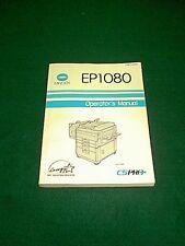 MINOLTA COPIER MODEL CSPRO EP1080 OPERATOR'S MANUAL