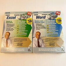 Video Professor Lot of 2 - Learn Microsoft Word and Excel PC - Cd-Rom