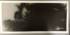 Euro Exclusive Full Color Litho BATMAN SIGNED by GABRIELE DELL'OTTO 10.5 BY 22.5
