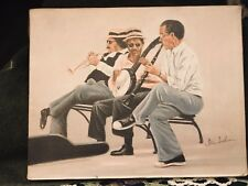 African American Ida Jackson signed JAZZ MUSICIANS GENUINE LITHOGRAPH CANVAS