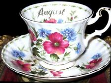 """Royal Albert POPPY Flower of The Month """"AUGUST"""" Tea Cup and Saucer Pink Poppies"""