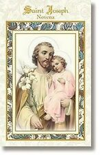 Novena Saint St. Joseph Full Color Artwork Aquinas Press Workers & Protection