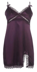Agent Provocateur Gisele Long Slip Lingerie Dress Womens Aubergine Size 8 *R173
