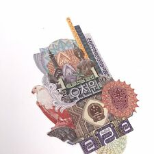 222 HUM Real Currency Art Collage, Small, 5 X 3 Inches, One Of A Kind
