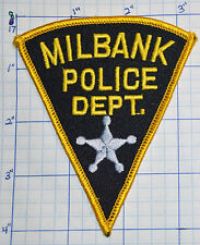 SOUTH DAKOTA, MILBANK POLICE DEPT TRIANGLE PATCH