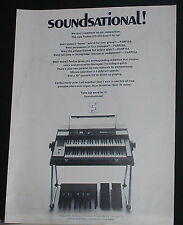 1972 Farfisa VIP 233 compact electric keyboard photo print Ad