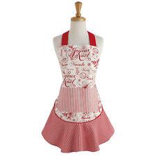 ** Vintage CHRISTMAS Apron ** Ruffle Style !!  Cotton * NWT !!  NEW!   29421