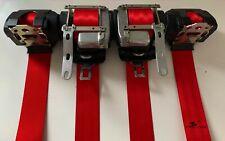Juego 4 cinturones de seguridad Rojos VW Polo 9N3 GTI seatbelt