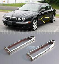 US Seller x2 Royal Chrome Side Marker Lamp Indicator Trims fro Jaguar X Type