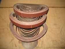 """30- new 1/2 x 12"""" A-50 Grit sanding / grinding belts Dynafile style"""