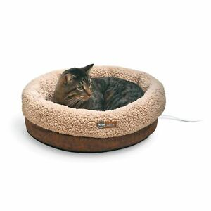 """K&H Pet Products Thermo-Snuggle Cup Pet Bed Bomber Chocolate 14"""" x 18"""" x 7"""""""