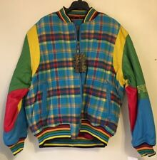 Crown By Schott NYC Men's Wool/Leather Bomber Jacket Multicolored  2XL