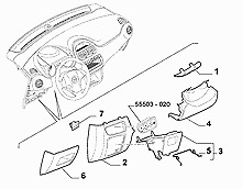 735506988 Fiat Punto LHD Drawer Storage Compartment Bottom Dashboard