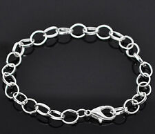 6 Link Chain Bracelets Perfect Base for Jewelry Creations - N025