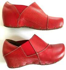 Spring Step L'artiste Clogs Red Leather EUR 36 US 5.5~6