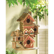 "Gingerbread Style Birdhouse - 12 1/2"" High - Wood / Eucalyptus"