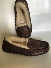 UGG Ansley Slippers Metallic Samples Sheepskin Lined Moccasin Women 6