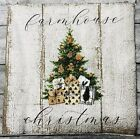 TWO Individual Paper Cocktail Decoupage Napkins Farmhouse Christmas Rustic Tree