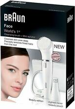 Braun 831 Facial Epilator and Cleansing Brush Includes Mirror and Beauty Pouch