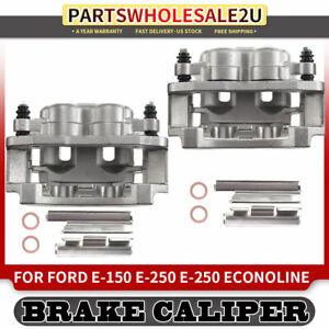 Hardware fit Ford E-350 Econoline Club Wagon Super Duty 2 FRONT Premium OEM Brake Calipers Pair Callahan CCK05804