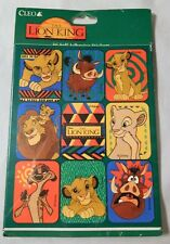Vintage 1990s Lion King stickers package unopened 4 sheets of 9 different