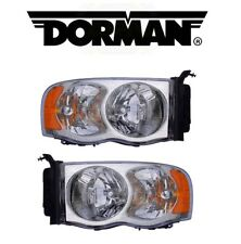 For Dodge Ram 1500 2500 3500 2002-2005 Set of 2 Headlight Assies Dorman