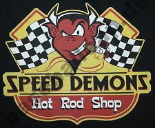 T-Shirt SPEED DAMONZ OLDSCHOOL HOTROD Dragster Pin Up V8 Rockabilly RACING 626