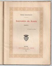 BRETAGNE THOMAS MAISONNEUVE SOUVENIRS DE ROUTE SONNETS 1893 RARE POESIE VOYAGE